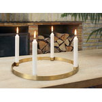Ferm Living Circle candleholder, large, brass