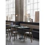 Muuto Linear Steel Cafe pöytä, 70 x 70 cm, tummanvihreä