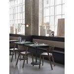 Muuto Linear Steel Café table 70 x 70 cm, dark green