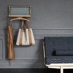 Klassik Studio The Hanger coat rack, soaped oak - grey blue