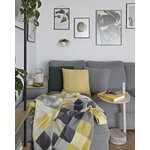 Silkeborg Uldspinderi Plain Beat throw, all yellow