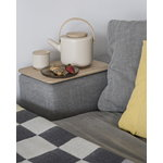 Stelton Theo tea cup with coaster, sand