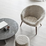 Fredericia Ditzel lounge chair, Moonlight sheepskin - walnut