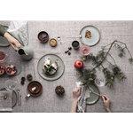 Ferm Living Winterland Forest Treats ornaments, set of 3, brass