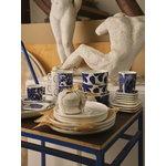 Marimekko Oiva - Ruudut lautanen 10 x 10 cm, 2 kpl, valkoinen - sininen