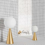 FontanaArte Bilia Mini table lamp, brass