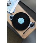 Wooden Turntable record player, oak
