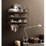 String Furniture String Pocket shelf, metal, taupe