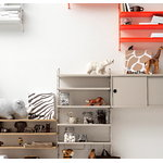 String Furniture String metal shelf 58 x 30 cm, low, beige