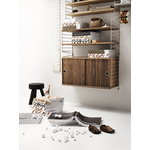String Furniture String shelf 78 x 20 cm, 3-pack, oak