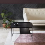 PLEASE WAIT to be SEATED Kanso sofa table, black