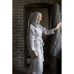 Lapuan Kankurit Terva bathrobe with hood, white - grey