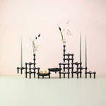 STOFF Copenhagen STOFF Nagel candleholder, set of 3,  matt black