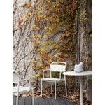 Muuto Linear Steel Café pöytä, pyöreä, 70 cm, luonnonvalkoinen