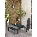 Muuto Linear Steel bench 170 cm, dark green
