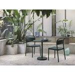 Muuto Linear Steel Café table, round, 70 cm, dark green