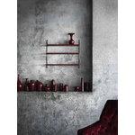 String Furniture String Pocket shelf, burgundy