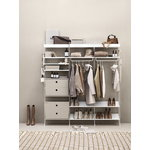 String Furniture String metal shelf, 58 x 30 cm, high, white