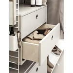 String Furniture String chest with 2 drawers, 58 x 30 cm, beige