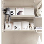 String Furniture String metal shelf, 58 x 30 cm, low, white