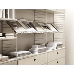 String Furniture String magazine shelf, 78 x 30 cm, beige steel