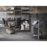 String Furniture String magazine shelf, 78 x 30 cm, grey wood