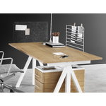 String Furniture String Works height adjustable work desk, 140 cm, oak