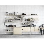 String Furniture String lattiapaneeli 200 x 30 cm, 2 kpl, valkoinen
