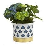 Klong Trio flower pot, white drop