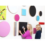 Kotonadesign Noteboard small round, black