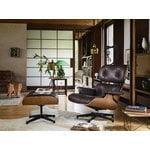 Vitra Eames Lounge Ottoman, American cherry - black leather