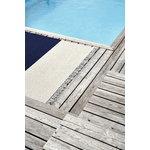 Woodnotes Beach rug, navy blue - light sand