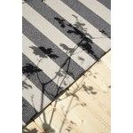 Woodnotes Big stripe matto, harmaa - vaalea hiekka