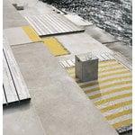 Woodnotes Big stripe in/out matto, tummansininen - vaalea hiekka