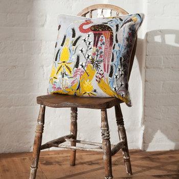 Klaus Haapaniemi Crane cushion cover, grey