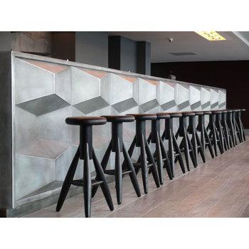 Artek Rocket bar stool, black