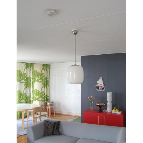 Jalo Helsinki Lento photoelectric smoke alarm, grey