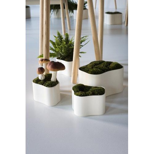 Artek Riihitie plant pot B, medium, white gloss