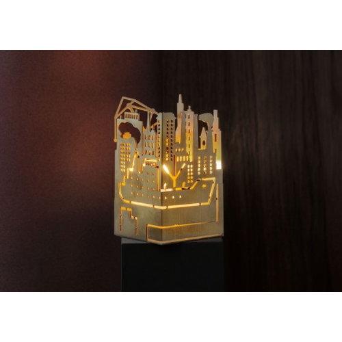 Skultuna The Factory candleholder, Civitavecchia, brass