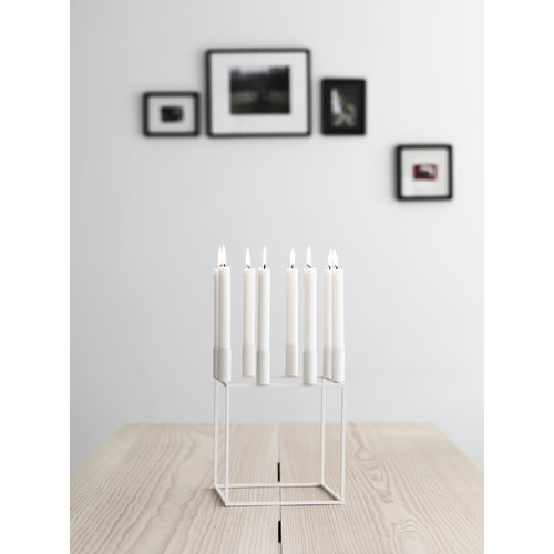 By Lassen Kubus 8 candleholder, white