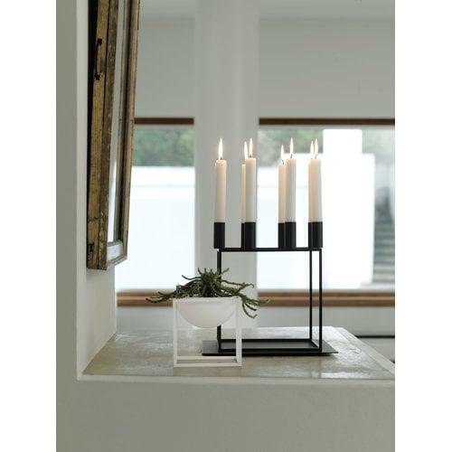 By Lassen Kubus 8 candleholder, black