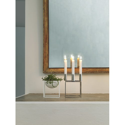 By Lassen Kubus 4 candleholder, nickel