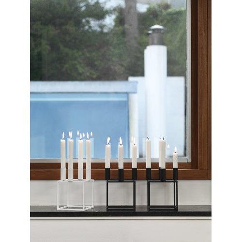By Lassen Kubus 4 candleholder, white