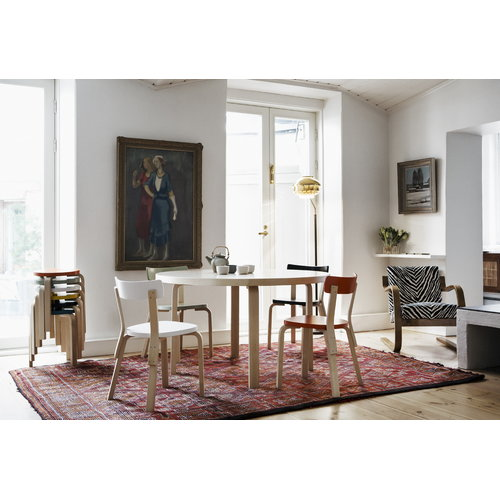 Artek Aalto jakkara 60, maalattu istuin