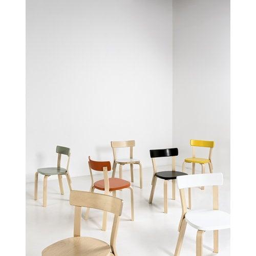 Artek Aalto chair 69, white laminate