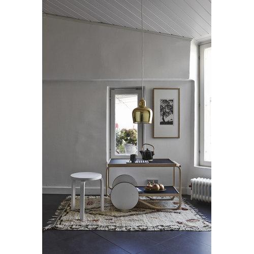 Artek Aalto jakkara 60, maalattu valkoinen