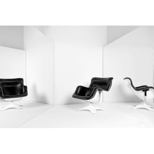 Artek Poltrona Karuselli, nera-bianca