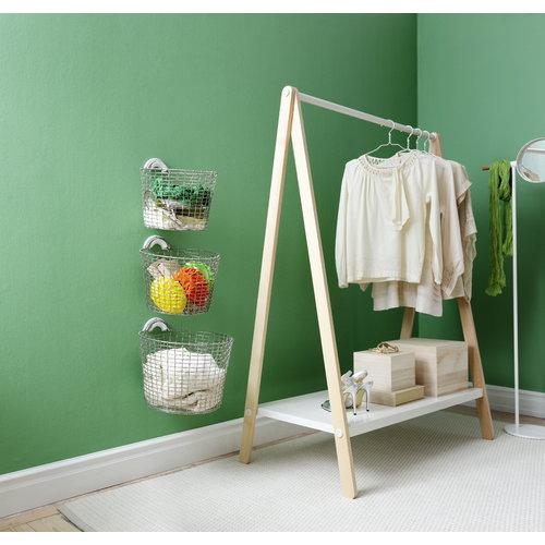 Korbo Wire Basket Bin 24, galvanized