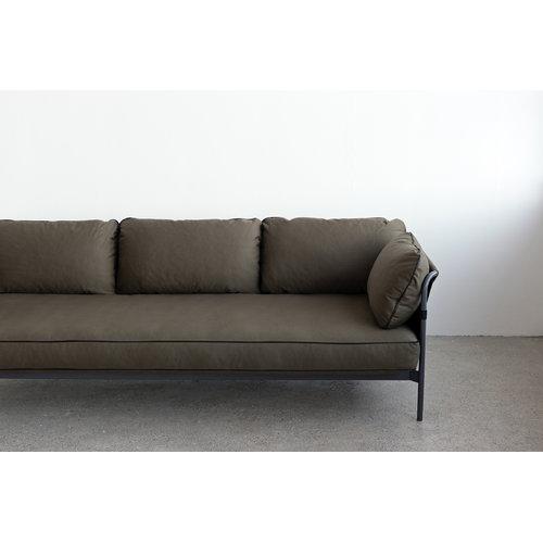 Hay Can sohva 3-istuttava, harmaa-army runko, Army Canvas