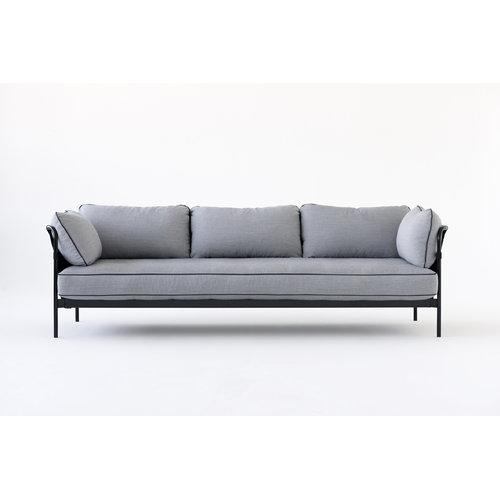 Hay Can sohva 3-istuttava, musta-sininen runko, Surface 120
